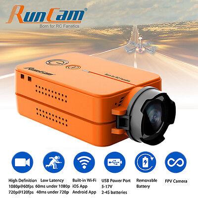 RunCam 2 HD 1080p Wide Angle Mini FPV Video Camera w/Battery for Racing Drone RC
