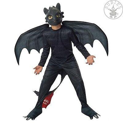 Drachen-Kinder-Kostüm OHNEZAHN Dragons 2 Schwarz m. - Schwarz Drachen Kostüm
