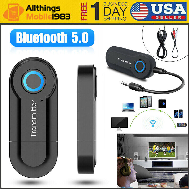 Wireless Bluetooth V 5.0 Transmitter For TV Phone PC Stereo Audio Music Adapter