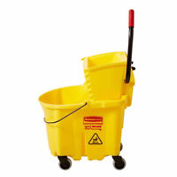 commercial mop bucket and mop $25