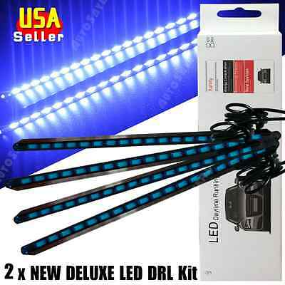4x Super Blue 12V Waterproof Car High Power 5730 LED Lights DRL Fog Driving Lamp