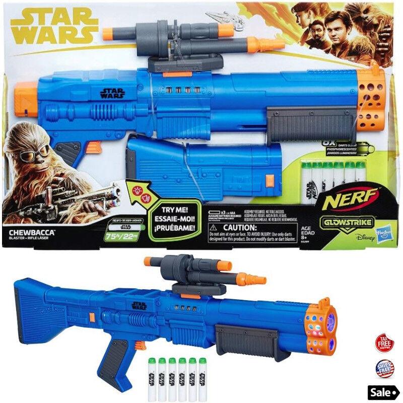 Star Wars Nerf Chewbacca Blaster Toy Gun Foam Soft Bullet Da