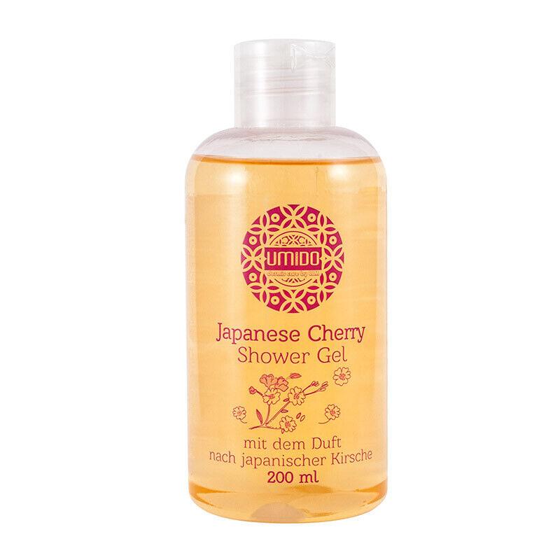 UMIDO Duschgel 200 ml Japanische Kirsche - Waschgel für Körper, Gesicht und Haar
