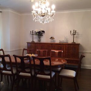 LUXURY DINING ROOM SET ROSEWOOD  ENSEMBLE SALLE A DINER DE LUXE