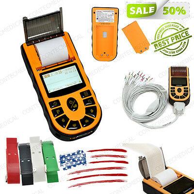 Fda Contec Ecg Machine Single Channel 12-lead Electrocardiograph Ekg Softwareus