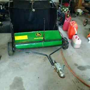John Deer lawn sweeper