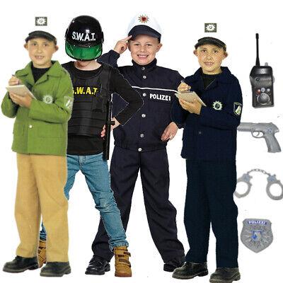 Kinder Polizist FBI SWAT Spezialeinheit Weste Jacke Komplettkostüm - Kostüme Polizist