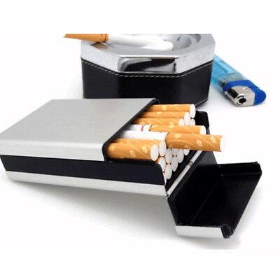 Cigarette Tobacco Cigar Case Holder Aluminum Pocket Box Container Pack SHORT NEW - Cigarette Holders