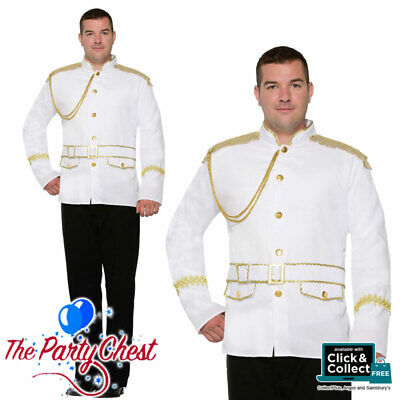 Prince Charming Outfit Adults (ADULT PRINCE CHARMING JACKET Mens Christmas Panto Fairy Tale Fancy Dress)