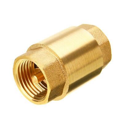 1 Inch Npt Pipe Threaded Brass In-line Spring Check Valve Inline One Way Copper