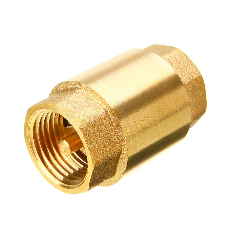 """1"""" Inch NPT Pipe Threaded Brass In-Line Spring Check Valve Inline One Way Copper"""