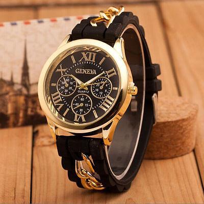 Top Brand Fashion Women's Wrist Watch Silicone Chain Analog Quartz часы reloj #2