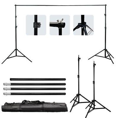 Background Support Stand Photo Backdrop Crossbar Kit Lighting Studio Tripod Set
