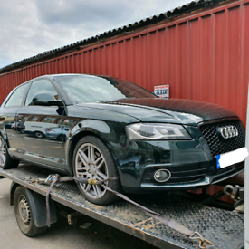 Audi a3 s line black edition front end breaking