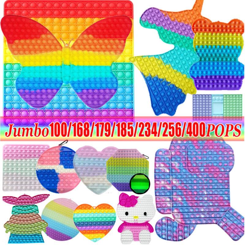 Various Jumbo Big Size Push Bubble Pop Fidget It Toy Square Stress Relief Toy US