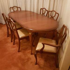 Gibbard dinning table and 6 chairs plus buffet