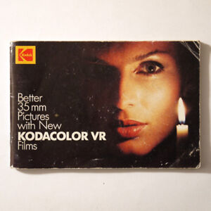 KODAK Better 35mm Pictures with the New KODACOLOR VR Films BOOK