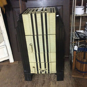 RARE Excellent Condition Enamelled Wood Coal Heater Stove