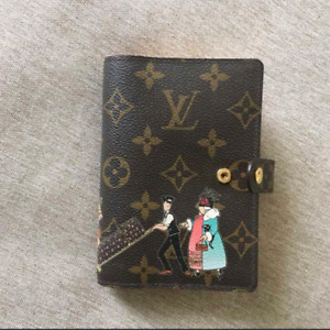 Authentic LOUIS VUITTON Monogram Small Ring Agenda Cover PM size