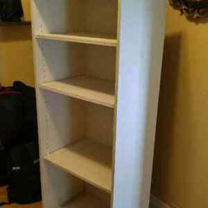 Shelf units, beds, hedge trimmer