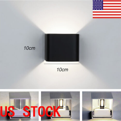 US  LED Wall Light waterproof Outdoor Up/Down Lamp Exterior