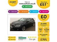 Lexus CT 200h 1.8 ( 134bhp ) CVT 2013MY Advance FROM £57 PER WEEK !