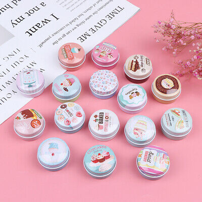 Mini Round Tin Box Sealed Jar Packing Jewelry Candy Storage Cans Coin Gift BJH Round Mini Tin