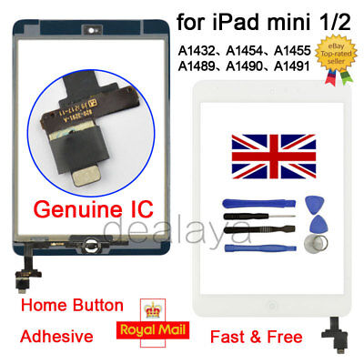 For iPad mini 1 2 A1432 A1454 A1455 A1489 A1490 A1491 White replacement Screen
