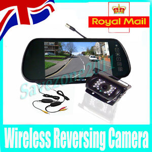Wireless 18 LED Parking Reverse Camera + 7