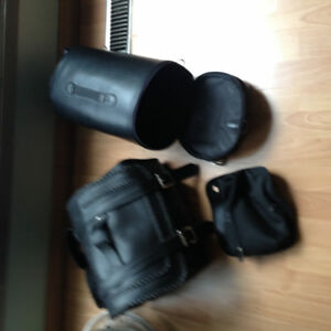 Various shields, heat grips and bags