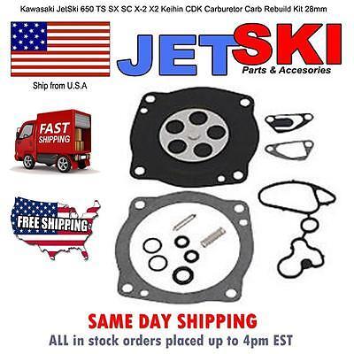 Kawasaki JetSki 650 TS SX SC X-2 X2 Keihin CDK Carburetor Carbu Rebuild Kit 28mm