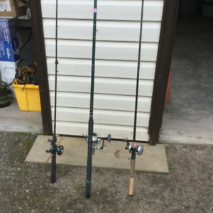 Fishing rods, lures, gear
