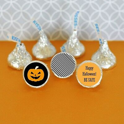 108 Personalized Classic Halloween Hershey's Kisses Labels Party Favors ()
