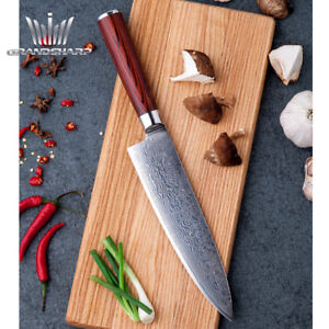"""8"""" Chef's Knife VG10 Stainless Steel Damascus"""