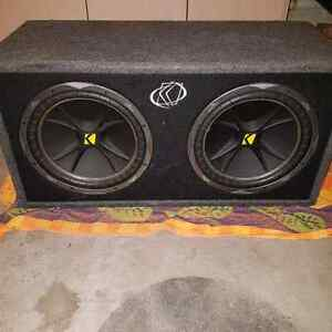 Top of the line kicker comp subs with amp