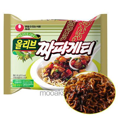 [Nongshim] Olive Chapagetti Black Soybean Chajang Korean Food Noodles 140 g