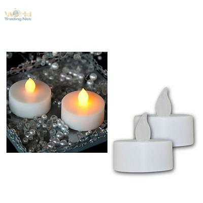 2er Set LED Tealight Tremolante Lanterna Elettrico Candela Candele Tealight