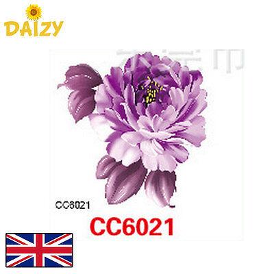 FLOWER TATTOO PURPLE FLOWER TATTOO PURPLE FLORAL TATTOO SMALL FLOWER TATTOO CUTE (Purple Flower Tattoo)