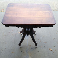Beautiful 28 by 20 inch  Antique Victorian Parlor Table