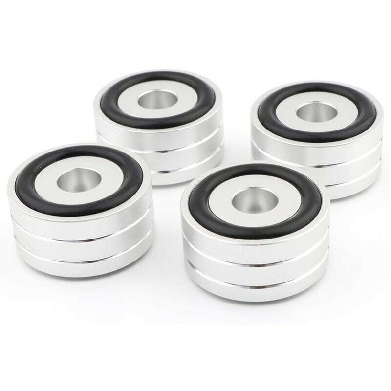 4Pcs 40X20mm Aluminum HiFi AMP Speaker Isolation Stand Turntable DAC Feet Pad