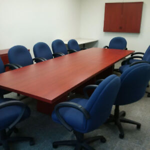 Board Room Conference Table With 12 Chairs