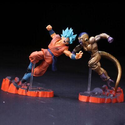 Dragon Ball Z Super Saiyan Blue Goku Son Gokou vs Golden Frieza 2pcs Figures Set - Dragon Ball Z Goku