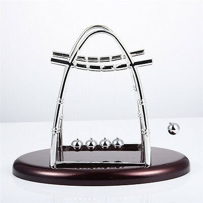 Newtons Cradle Steel Balance Ball Physics Science Fun Desk Accessory Toy Gift