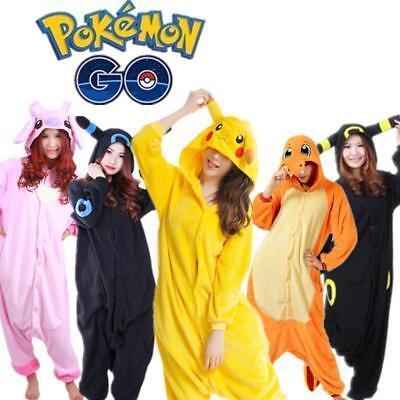 Adults Anime Pokemon Go Kigurumi Pyjamas Cosplay Costume  Jumpsuit Pajamas (Pokemon Adult)