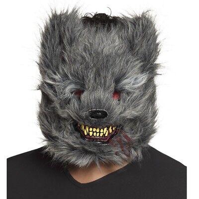 Werwolf Maske Halloween (gruselige creepy WERWOLF Maske blutrünstige Tiermaske Halloween Kostüm #2215)
