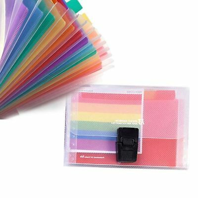 13 Pocket Folder Office Expanding File Colorful Organizer Document Y3s8