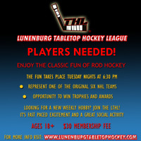 PLAYERS NEEDED! Lunenburg Tabletop Hockey League