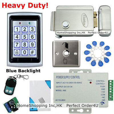 RFID Card + Password Metal Door Access Control System+ Electric Lock+Remote+Bell