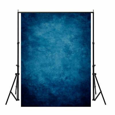 US 3x5 5x7ft Deep Blue Vinyl Photography Backdrops Vintage Painted Photo Booth - Photobooth Back Drop