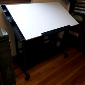 Drafting table- metal legs and base- high quality-$75
